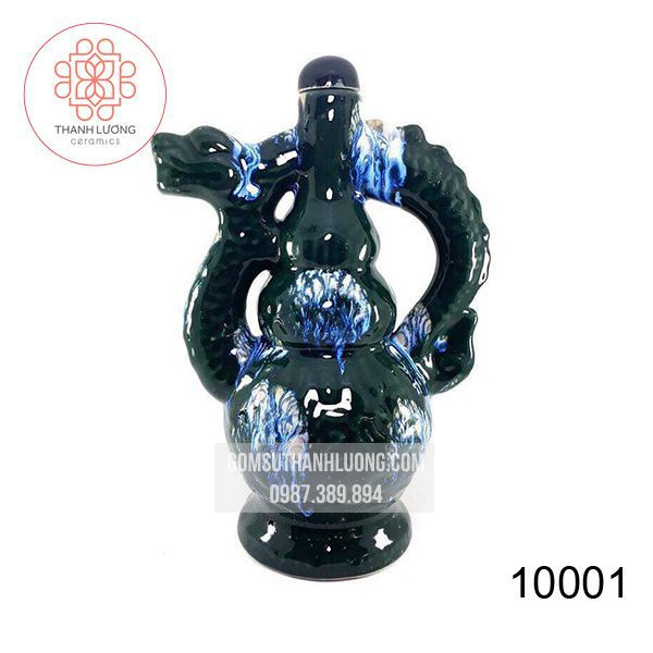 Nậm Đựng Rượu Bát Tràng Rồng-10001