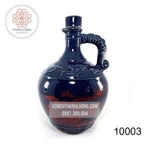 Bình Rượu Sứ Bát Tràng Rồng Xanh -10003