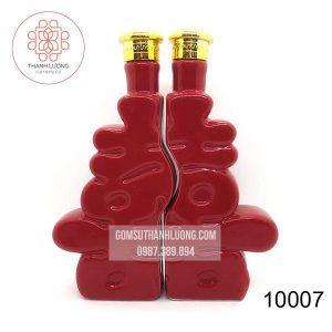 Bình Sứ Đựng Rượu Chữ Hỷ Bát Tràng -10007
