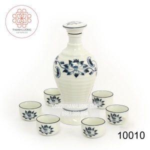 Bộ Bình Rượu Gốm Sứ Nhà Hàng Bát Tràng - 10010