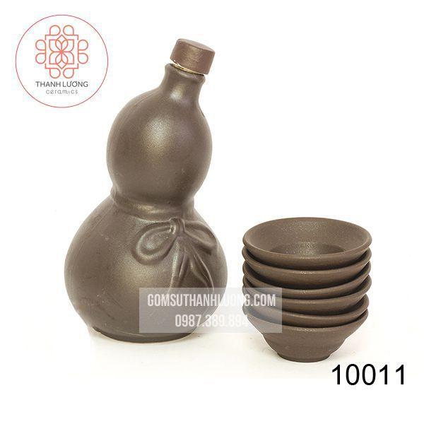 Bộ Bình Gốm Đựng Rượu Bát Tràng -10011