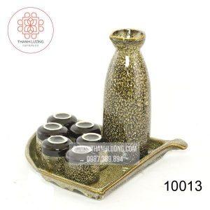 Bộ Bình Đựng Rượu Bằng Sứ Sake Hỏa Biến Bát Tràng -10013