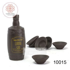 Bộ Bình Gốm Đựng Rượu Bát Tràn Inlogo-10015