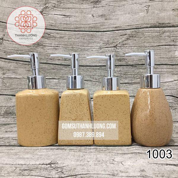 Bộ 4 Bình Đựng Sữa Tắm Dầu Gội Khách Sạn Cát Vàng - 1003