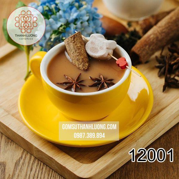 Cốc Cafe Capuchino Màu Classic Bát Tràng - 12001