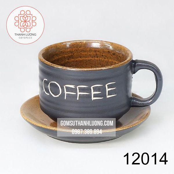 Cốc Cafe Quán Cafe Men Gốm Bát Tràng - 12014