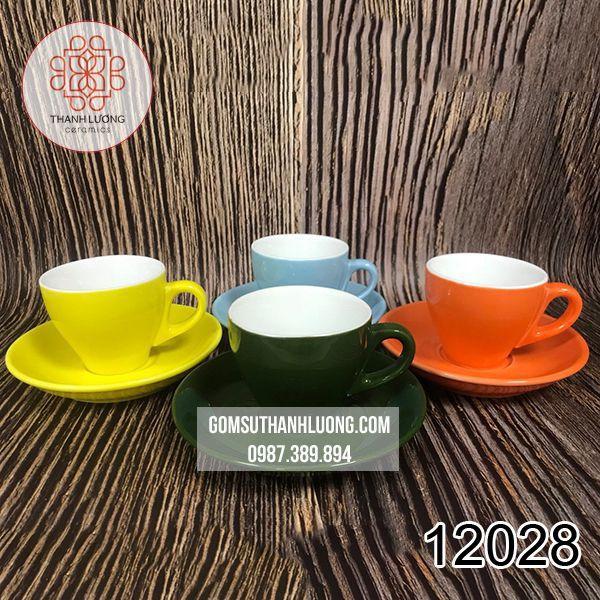 Cốc Cafe Espresso Màu Bát Tràng - 12028