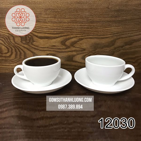 Cốc Cafe Trắng Bát Tràng - 12030