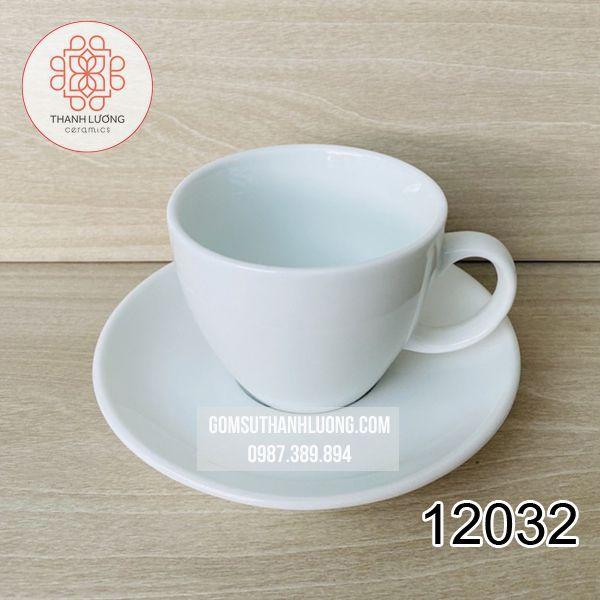 Cốc Cafe Trắng Bát Tràng - 12032