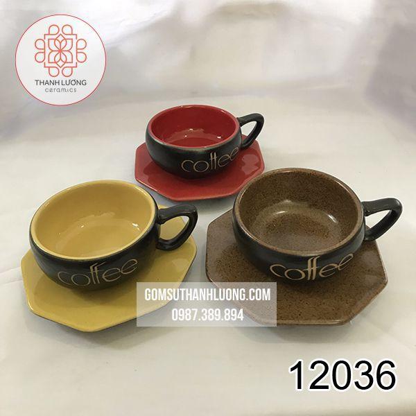 Cốc Cafe Thấp Bát Tràng - 12036
