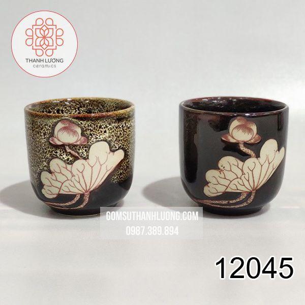 Cốc Uống Nước Trứng Vẽ Sen Bát Tràng - 12045