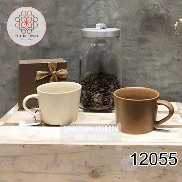 Cốc Uống Nước Cafe Men Màu Bát Tràng - 12055