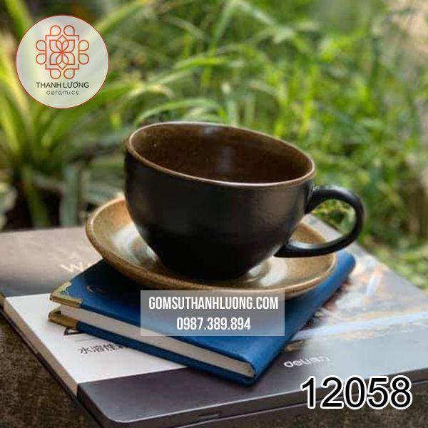 Cốc Cafe Sứ Men Màu Bát Tràng - 12058