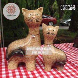Tượng Trang Trí Con Mèo Bát Tràng
