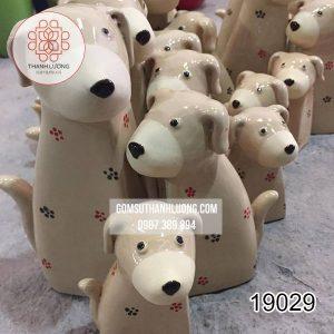 tượng trang trí chó bát tràng