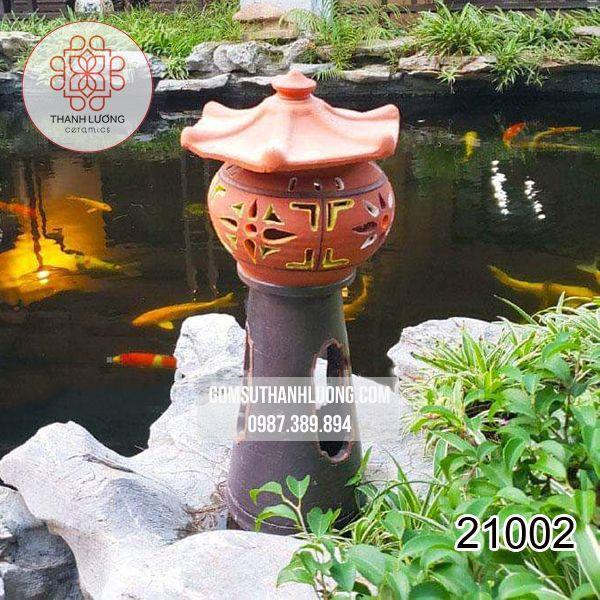 Đèn Gốm Sân Vườn Cây Cao Bát Tràng