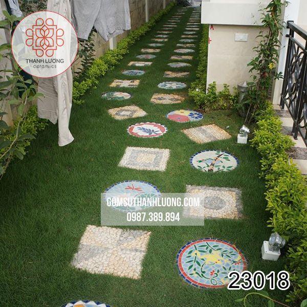 Gạch Mosaic Sân Vườn Bát Tràng