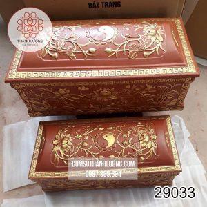 Tiểu Quách Gốm Bát Tràng Vẽ Vàng -29033